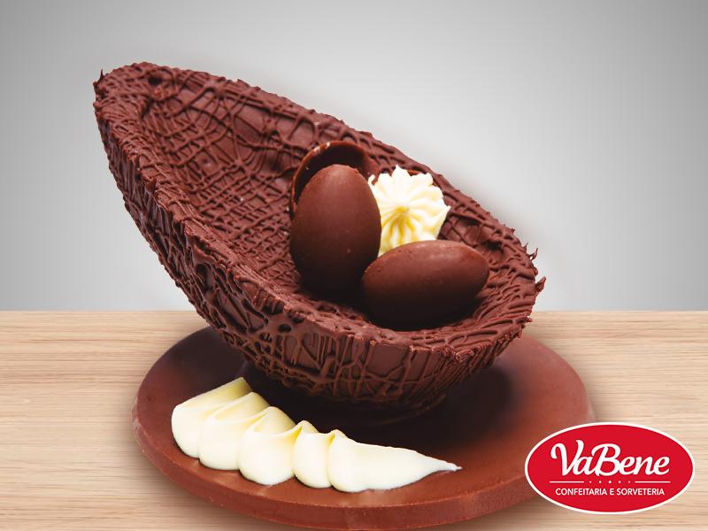 Receita Ovo ninho de pascoa VaBene com leitinho e chocolate