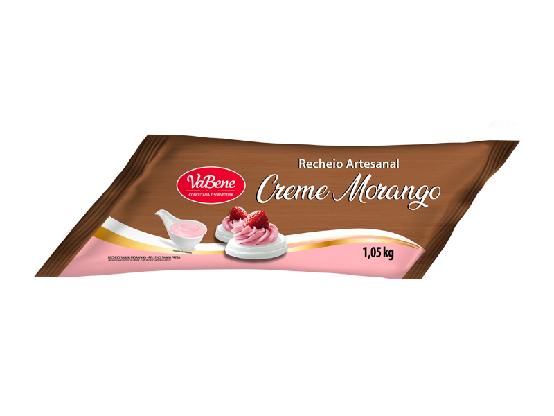 Recheio Artesanal Creme Morango VaBene Manga 1kg